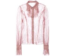 lace sheer shirt