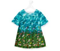 Kleid mit floralem Print - kids - Baumwolle - 8