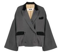 oversized-sleeve double-breasted blazer