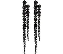 Double Drip crystal-embellished earrings