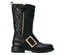 quilted buckle boots - women - Leder/rubber - 39