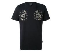 T-Shirt mit Totenkopfstickerei
