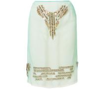 Embellished tulle skirt