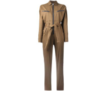 zipped belted jumpsuit