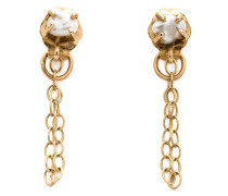 14kt Goldohrringe mit Keshi-Perle