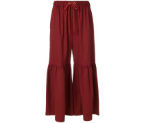 Moroccan crepe flared trousers