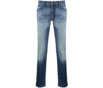 Tief sitzende Straight-Leg-Jeans