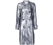 Trenchcoat im Metallic-Look