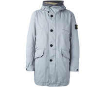 logo patch padded coat