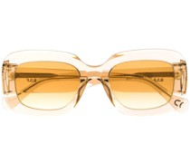 Sonnenbrille mit transparentem Gestell