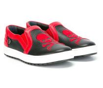 Slip-On-Sneakers mit Totenkopf