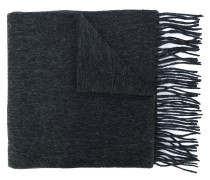 fringed knitted scarf