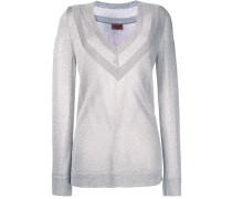shimmery v-neck jumper
