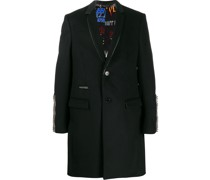 Einreihiger Mantel mit Nieten