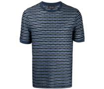 T-Shirt mit strukturierten Streifen
