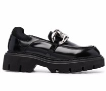 chain-link detail loafers