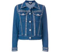 snap button embellished jacket