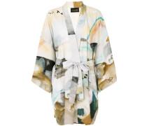 Kimonojacke mit Aquarell-Print