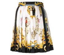 baroque pleated mini skirt