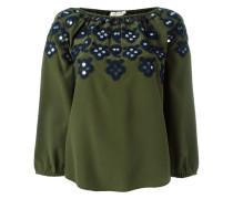 embellished neck blouse