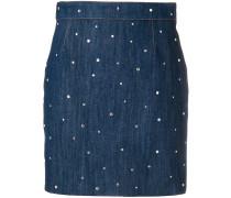 embellished denim mini skirt