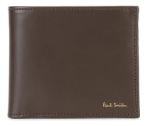Flaches Portemonnaie mit Streifen