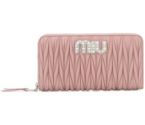 pleated continental wallet