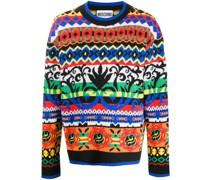 Geometrisch gemusterter Pullover