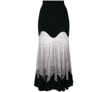 Metallic Mesh Knit skirt