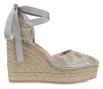 Metallic-Espadrilles mit Wedge-Absatz