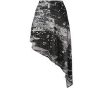 Asymmetrischer Rock mit Print