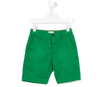 Chino-Shorts mit Logo-Patch