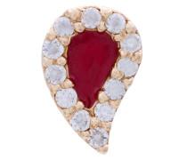 14kt 'Blood Drop' Goldohrstecker mit Diamanten