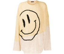 Pullover mit Smiley-Stickerei