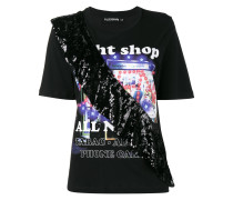 Night Shop T Shirt with Sequin Frill