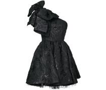 one shoulder giant bow dress