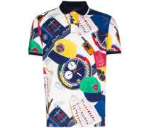 Poloshirt mit Yacht-Print