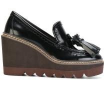 Wedge-Loafer mit Quasten