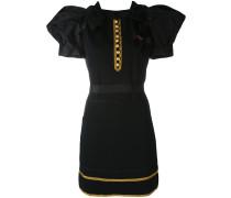 'Heraldic' Minikleid aus Seide