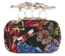 'Knuckle' Clutch mit Stickerei