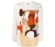 Intarsien-Pullover mit Tigermuster
