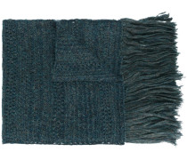 Texturierter Schal mit Fransen