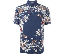 Poloshirt mit Vogel-Print