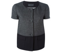 short sleeve textured jacket