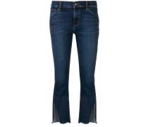 Cropped-Jeans mit geschlitzten Bündchen