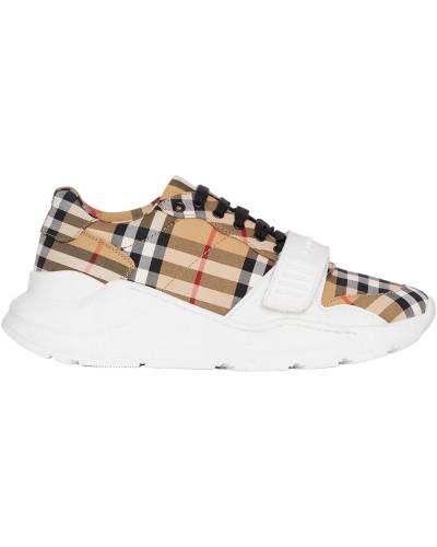 Sneakers mit Vintage-Check