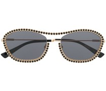 Runde Sonnenbrille mit Nieten