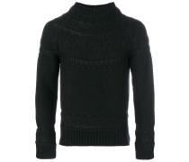 shiny stitch detail sweater