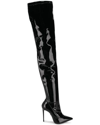 Spitze Overknee-Stiefel