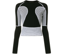 panelled slim jumper